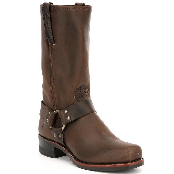 フライ メンズ ブーツ&レインブーツ シューズ Men's Harness 12R Leather Square-Toe Boots Gaucho