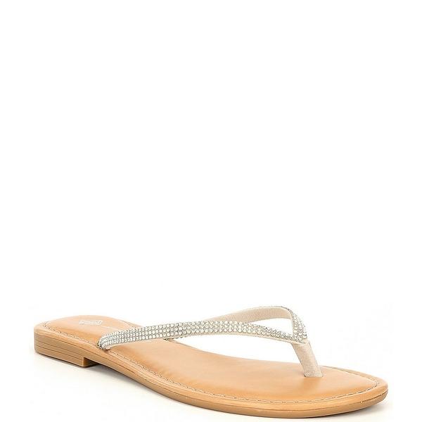 アントニオメラニー レディース サンダル シューズ Laiken Embellished Toe Thong Flat Sandals Chalk
