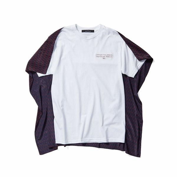 ロック レディース シャツ トップス Embroidered Words T-Shirt Chain Link Navy