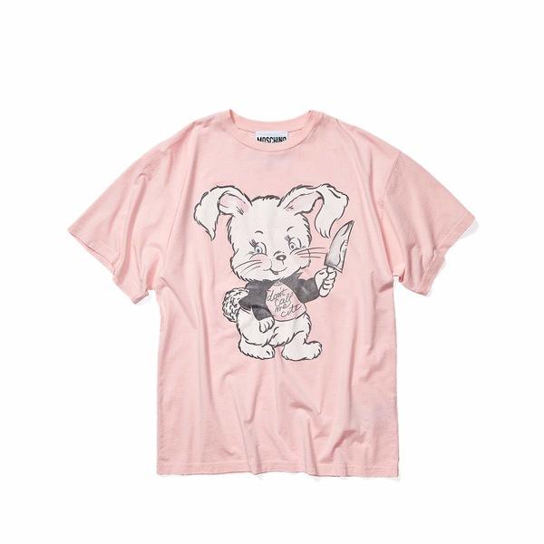 モスキーノ メンズ シャツ トップス Killer Bunny T-Shirt Pink