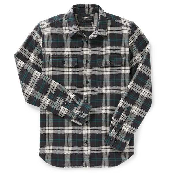 フィルソン メンズ シャツ トップス Filson Vintage Flannel Work Shirt Black/Teal/Cream Plaid