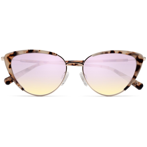デブラン レディース サングラス&アイウェア アクセサリー D'Blanc La Luna Sunglasses - Women's Amuse Snow Leopard/Brown Flash Gradient