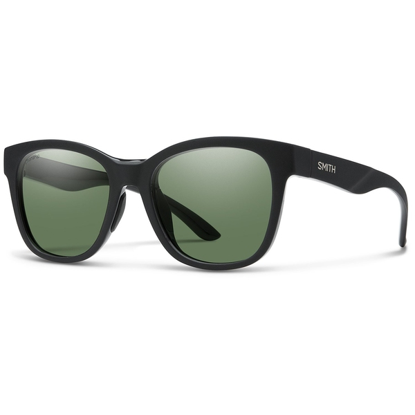 スミス レディース サングラス&アイウェア アクセサリー Smith Caper Sunglasses - Women's Matte Black/ChromaPop Polarized Gray Green