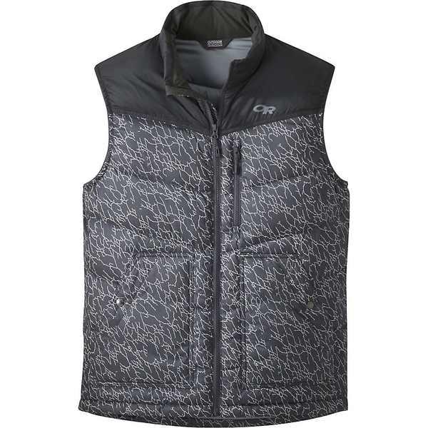 メンズ Research Transcendent Print アウトドアリサーチ Storm Outdoor Down アウター / ジャケット&ブルゾン Men's Black Vest