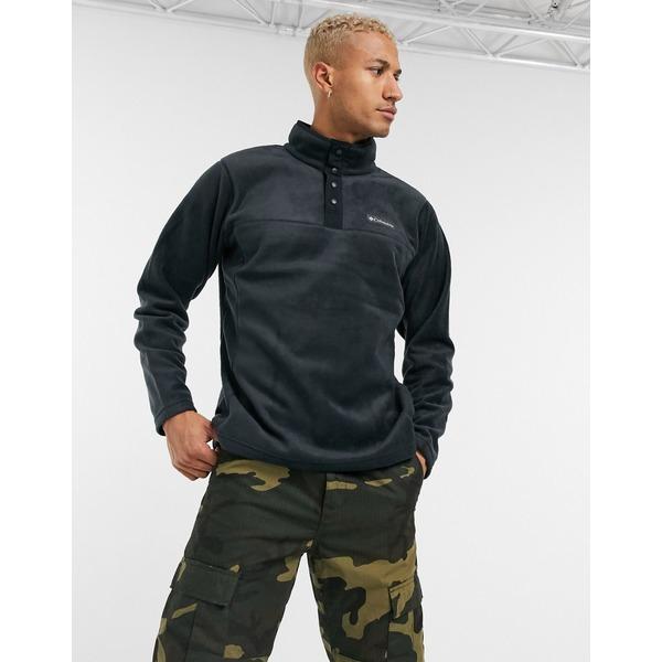 【大注目】 コロンビア メンズ ジャケット&ブルゾン アウター Columbia Steens Mountain snap button fleece in black Black, REIKO KAZKI 9ff52c92