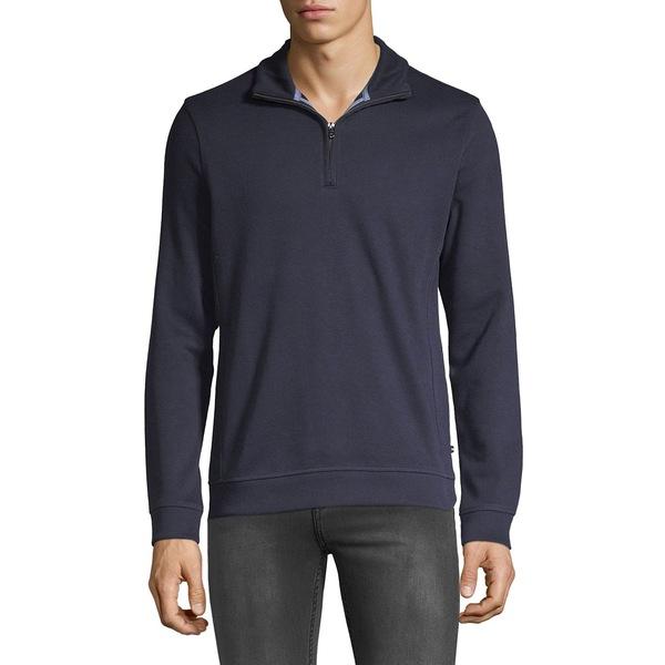 ブラック・ブラウン1826 メンズ ニット&セーター アウター Quarter Zip Pullover Autumn Navy