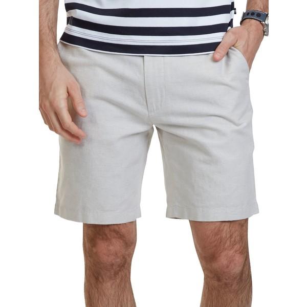 ナウティカ メンズ ハーフ&ショーツ ボトムス Classic Fit Cotton-Linen Blend Shorts Wheat Flax