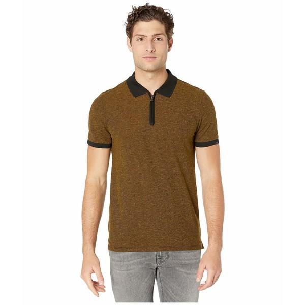 7フォーオールマンカインド メンズ シャツ トップス Short Sleeve 1/2 Zip Polo Heritage Gold