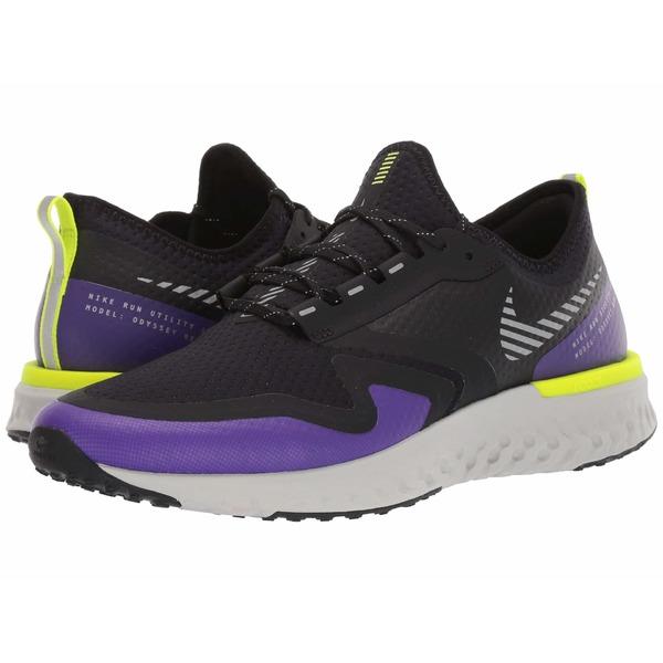 ナイキ メンズ スニーカー シューズ Odyssey React 2 Shield Black/Metallic Silver/Voltage Purple