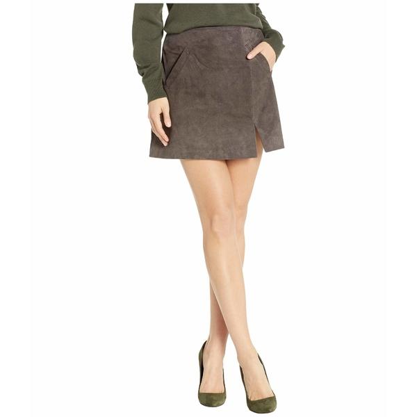 ブランクニューヨーク レディース スカート ボトムス Suede Skirt w/ Side Slit French Grey