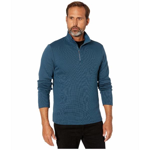カルバンクライン メンズ ニット&セーター アウター Liquid Touch Long Sleeve 1/4 Zip Majolica Blue