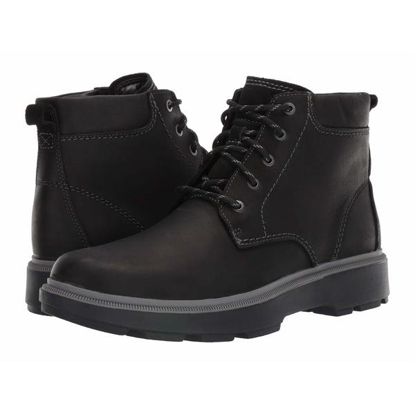 クラークス メンズ ブーツ&レインブーツ シューズ Dempsey Top Black Leather