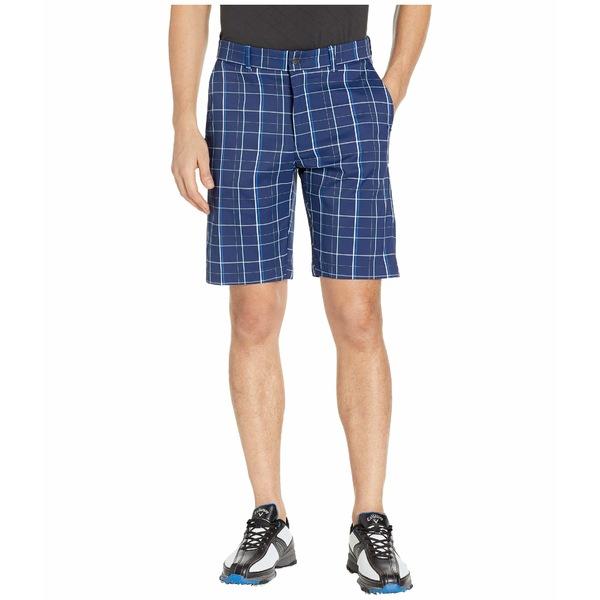 キャラウェイ メンズ ハーフ&ショーツ ボトムス Flat Front Fashion Plaid Shorts Medieval Blue