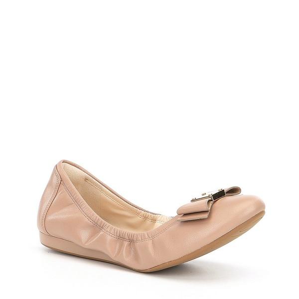 コールハーン レディース サンダル シューズ Tali Bow Detail Leather Ballet Flats Maple Sugar