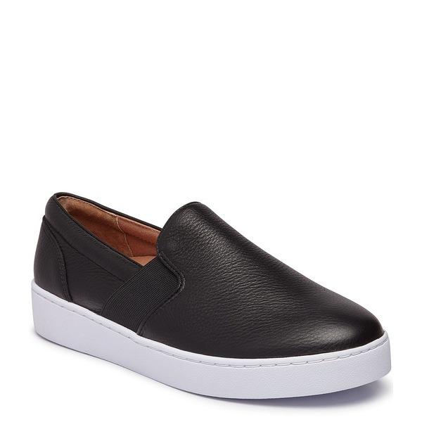 バイオニック レディース スニーカー シューズ Demetra Leather Slip On Sneakers Black