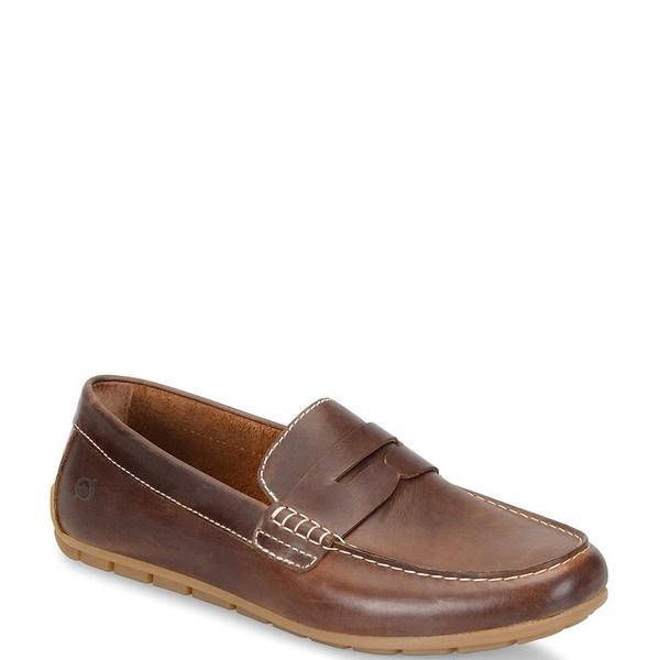 ボーン メンズ スニーカー シューズ Men's Andes Leather Loafers Brown