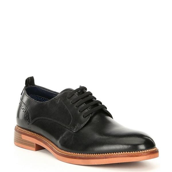 スティーブ マデン メンズ ドレスシューズ シューズ Men's Turnout Leather Lace-Up Dress Shoes Black