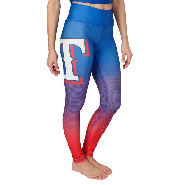 コンセプトスポーツ レディース カジュアルパンツ ボトムス Texas Rangers Concepts Sport Women's Fringe Sublimated Leggings Royal/Red