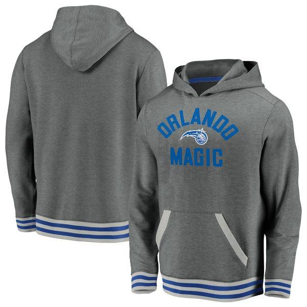ファナティクス メンズ パーカー・スウェットシャツ アウター Orlando Magic Fanatics Branded True Classics Vintage Upperclassman Tri-Blend Pullover Hoodie Gray