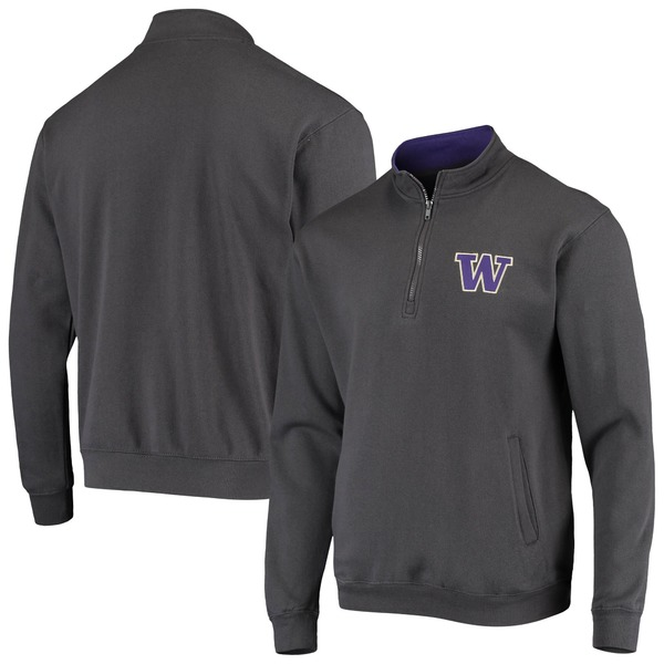 コロシアム メンズ ジャケット&ブルゾン アウター Washington Huskies Colosseum Tortugas Logo QuarterZip Jacket Purple