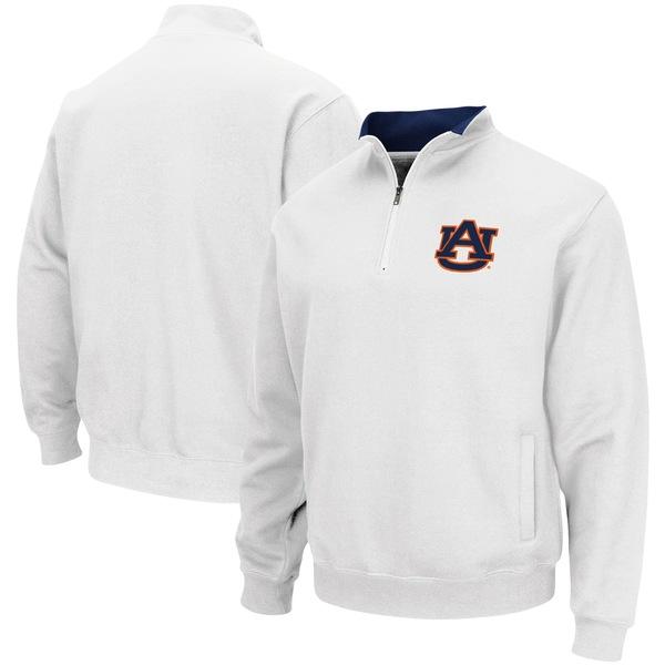 コロシアム メンズ ジャケット&ブルゾン アウター Auburn Tigers Colosseum Tortugas Logo QuarterZip Pullover Jacket Orange