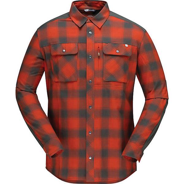 ノローナ メンズ シャツ トップス Norrona Men's Svalbard Flannel Shirt Rooibos Tea / Slate Grey