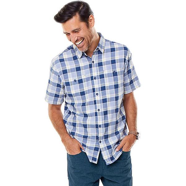 ロイヤルロビンズ メンズ シャツ トップス Royal Robbins Men's Point Reyes Plaid II SS Shirt Collins Blue