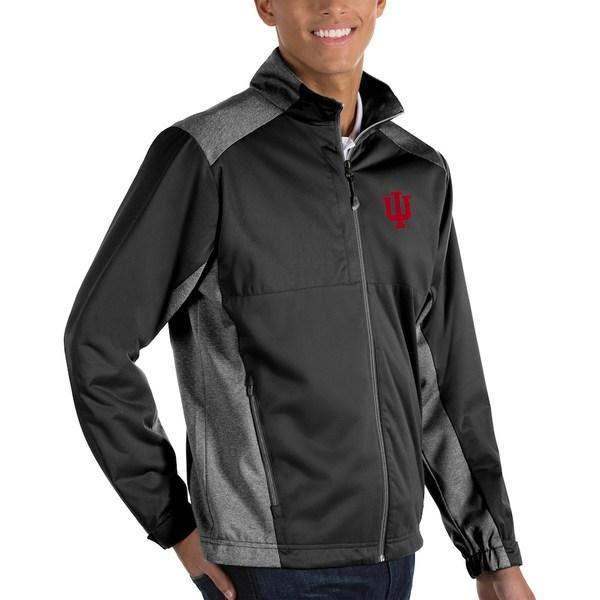 アンティグア メンズ ジャケット&ブルゾン アウター Indiana Hoosiers Antigua Big & Tall Revolve Full-Zip Jacket Black