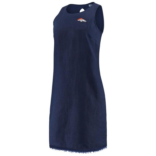 トッミーバハマ レディース ワンピース トップス Denver Broncos Tommy Bahama Women's Two Palms Shift Dress Navy