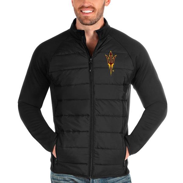 アンティグア メンズ ジャケット&ブルゾン アウター Arizona State Sun Devils Antigua Altitude Full-Zip Jacket Black