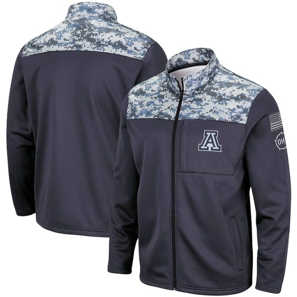 コロシアム メンズ ジャケット&ブルゾン アウター Arizona Wildcats Colosseum OHT Military Appreciation Fleece Full-Zip Jacket Charcoal