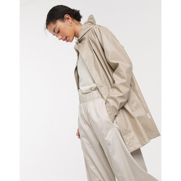 レインズ レディース コート アウター Rains shiny short coat Shiny beige
