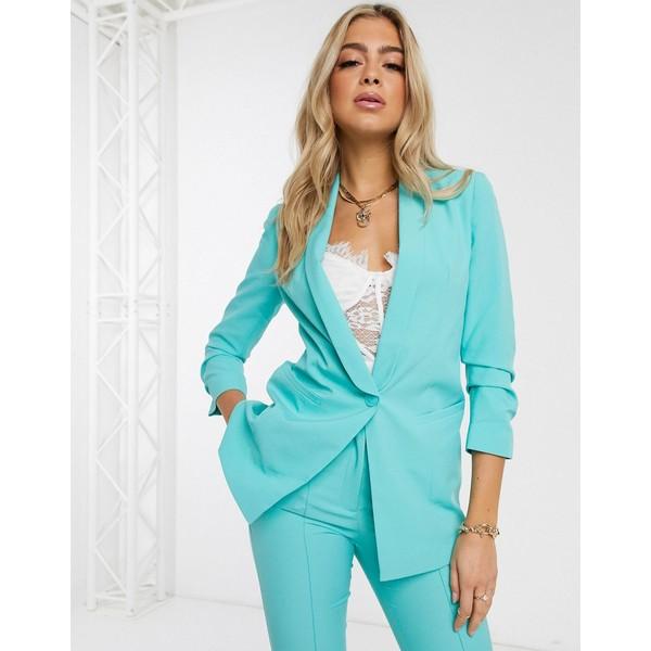 エイソス レディース ジャケット&ブルゾン アウター ASOS DESIGN mix & match tailored suit blazer Aqua