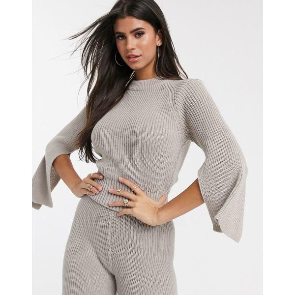 エイソス レディース ニット&セーター アウター ASOS DESIGN lounge premium knitted sweater with splits Mink
