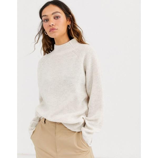 ウィークデイ レディース ニット&セーター アウター Weekday claudia sweater in white melange White melange