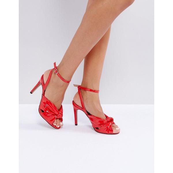 エイソス レディース ヒール シューズ ASOS HEADQUARTERS Heeled Sandals Red patent