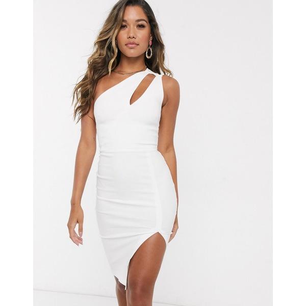 ベスパー レディース トップス ワンピース White 全商品無料サイズ交換 ベスパー レディース ワンピース トップス Vesper one shoulder midi dress in white White