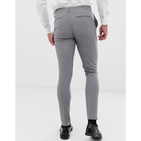 エイソス メンズ カジュアルパンツ ボトムス ASOS DESIGN 2 pack super skinny smart pants in black and gray SAVE Black/gray