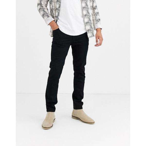 エイソス メンズ デニムパンツ ボトムス ASOS DESIGN 12.5oz skinny jeans in black Black