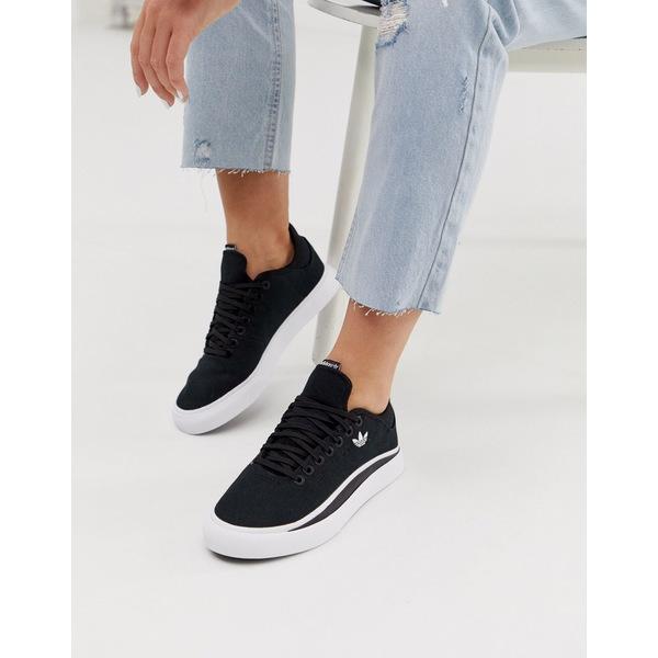 アディダスオリジナルス レディース スニーカー シューズ adidas Originals Sabalo sneakers in black and white Multi