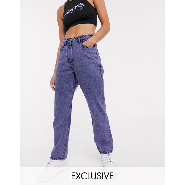コリュージョン レディース デニムパンツ ボトムス COLLUSION x006 mom jeans in purple overdye Purple