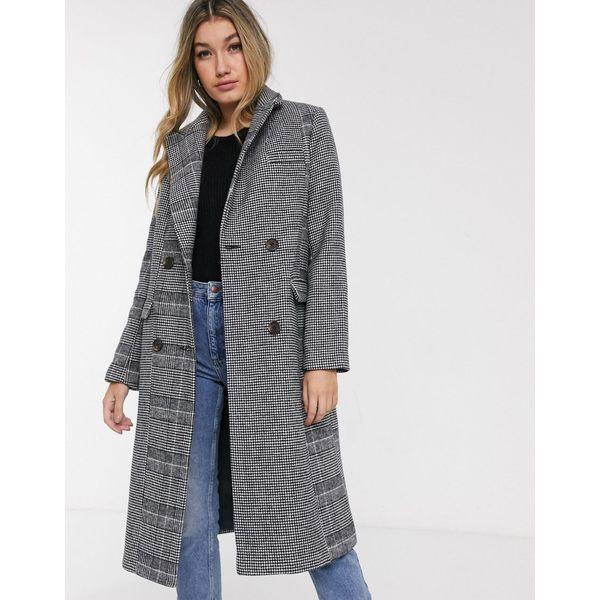 エイソス レディース コート アウター ASOS DESIGN mix match check coat Multi