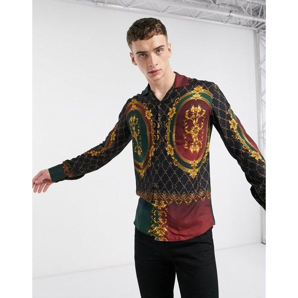 クリミナルダメージ メンズ シャツ トップス Criminal Damage quilt long sleeve shirt in multi Multi