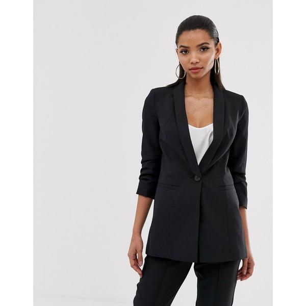 エイソス レディース ジャケット&ブルゾン アウター ASOS DESIGN mix & match suit blazer in black Black