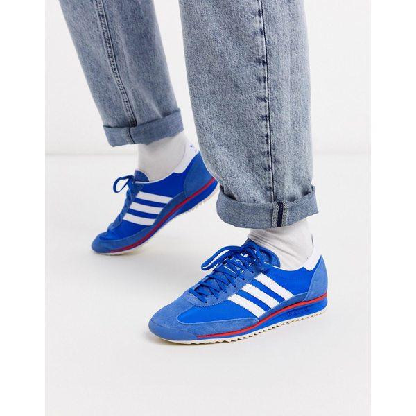 アディダスオリジナルス メンズ スニーカー シューズ adidas Originals SL 72 sneakers in blue Bl1 - blue 1