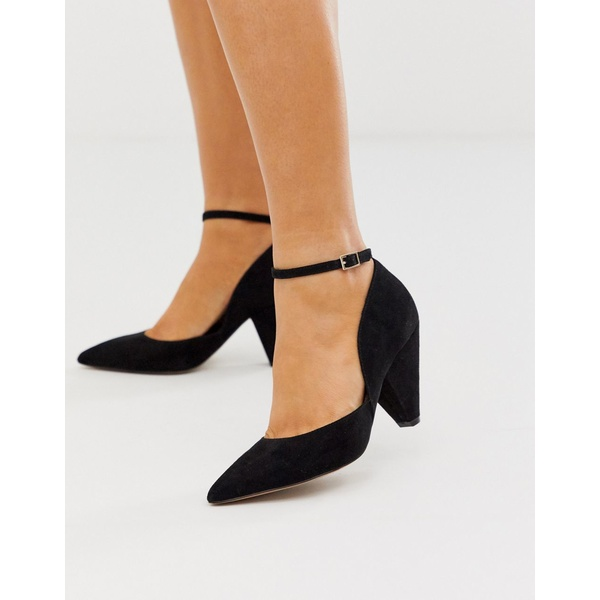 エイソス レディース ヒール シューズ ASOS DESIGN Speak Out pointed mid-heels in black Black