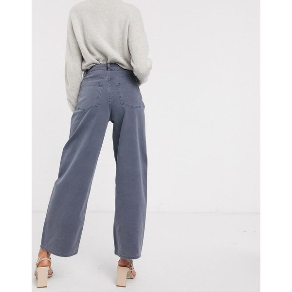 エイソス レディース デニムパンツ ボトムス ASOS DESIGN High rise 'relaxed' dad jeans in pebble gray Pebble gray