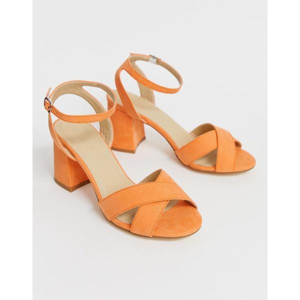 トゥラッフル レディース サンダル シューズ Truffle Collection block heel sandals Apricot