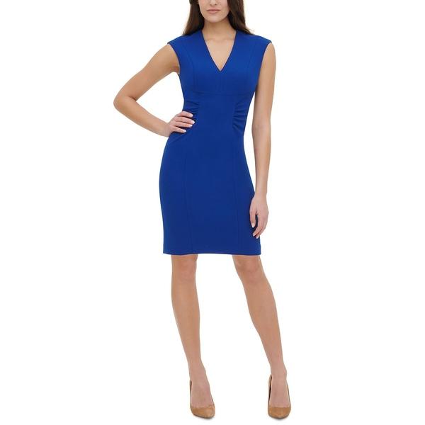 永遠の定番 トミー ヒルフィガー レディース トップス 感謝価格 ワンピース Marine Blue Side-Ruched Sheath 全商品無料サイズ交換 Dress