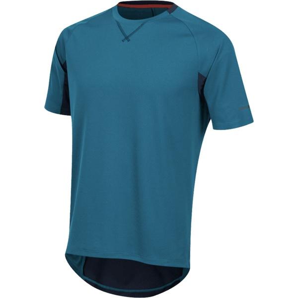 パールイズミ メンズ サイクリング スポーツ Canyon Short-Sleeve Jersey - Men's Teal/Navy